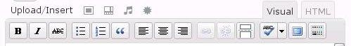 Gambar 2 : Tampilan Toolbar Visual Editor Seharusnya