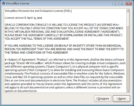 Wizard VirtualBox License