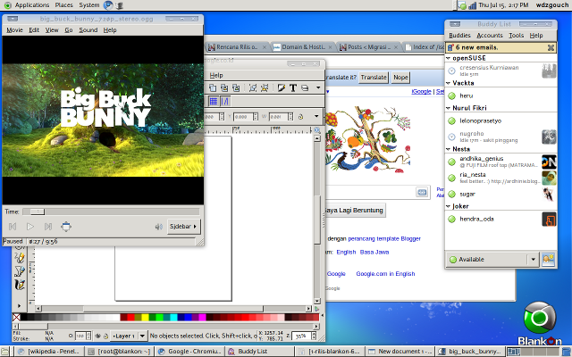 Tampilan desktop Ombilin pada Acer 5050