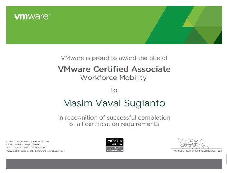 vavai-VCA-certificate