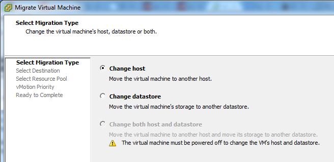 Enhanced vMotion, Tidak Bisa Dilakukan Menggunakan vSphere Client Berbasis Windows